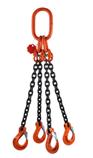 Řetězový závěs dvoupramenný – zakončený vidlicovým hákem s pojistkou CSH