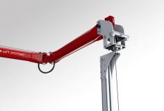 Rychlozdvihací elektronický manipulátor – provedení pro zdvihání excentrických výrobků