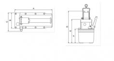 Akumulátorové elektrické čerpadlo PYB - rozměry obrázek