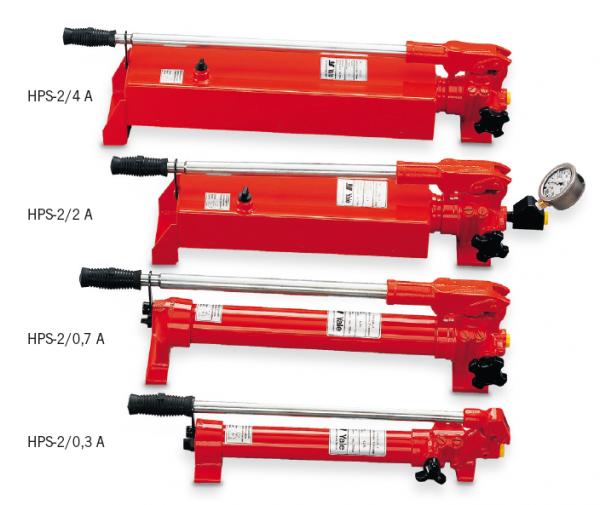 Ruční pumpy pro jednočinné válce model HPS